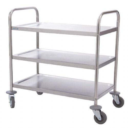 Stainless Steel 3 Tier Catering Trolley
